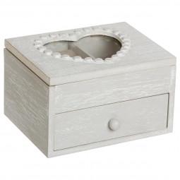 Boîte à bijoux coeur 1 tiroir