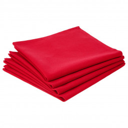 Lot de 4 serviettes de table rouges
