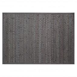 Tapis bambou damier gris foncé 120X170