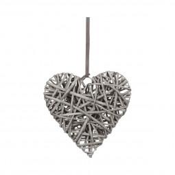 coeur décoration en osier D25