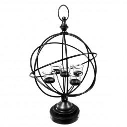 Globe en métal + 5 luminaires H50.5