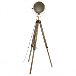 Lampadaire métal/bois Ebor Bron H152