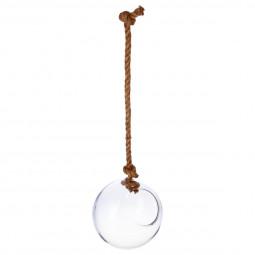 Boule en verre + corde D19XH22