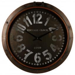 Pendule métal hublot D73.5