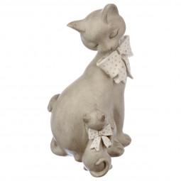 Couple chat à noeud en résine