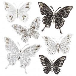 Sticker en relief papillon