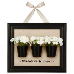 Cadre décoration fleurs 3D