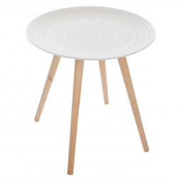 Table à café nomade blanche Mileo