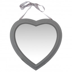 Miroir coeur à ruban 40X40