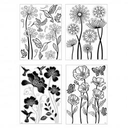 Sticker en relief fleurs
