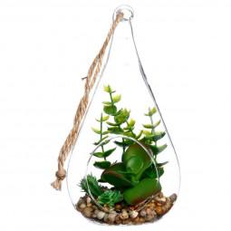 Plante + Goutte en verre H19.5