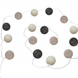 Guirlande LED à piles 16 boules
