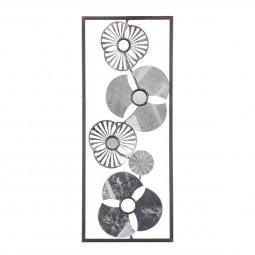Décoration murale métal fleur 25X61