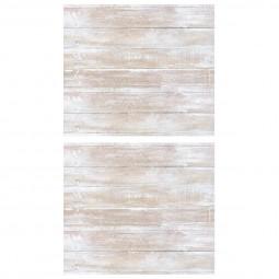 Lot de 2 stickers bois blancs 70x80