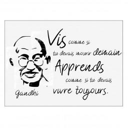 Sticker texte face Gandhi 50x70
