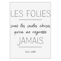 Sticker wilde folies 50x70