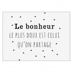 Sticker texte 30x40 - Bonheur part