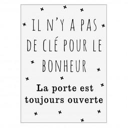 Sticker texte 50x70 - Clé bonheur