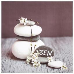 Toile imprimée zen stones 28X28