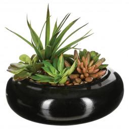 Composition plante vase céramique D20XH6
