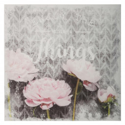 Toile imprimée fleur 38X38