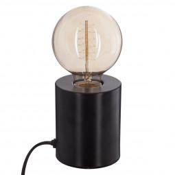 Lampe tube noire en métal H 10 cm