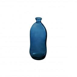Vase bouteille verre recyclé orage H35