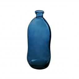 Vase bouteille verre recyclé orage H51