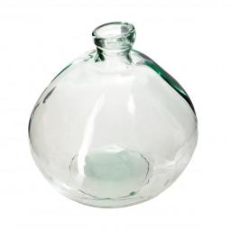 Vase rond verre recyclé transparent D33