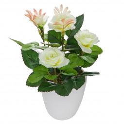 Fleur blanche en pot H18