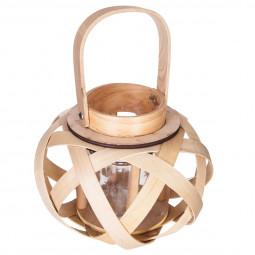 Lanterne en bois H16.5