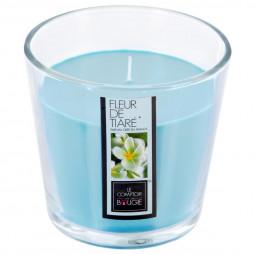Bougie verre parfumée fleur de tiaré 250G