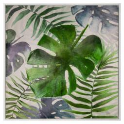 Toile peinture cadre Jungle 78X78