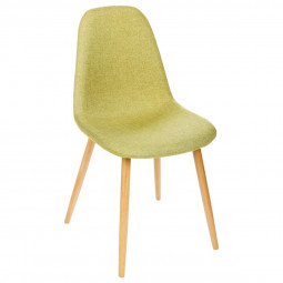 Lot de 2 chaises anis Nokas pieds en hêtre