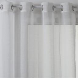 Voilage à oeillets Paul blanc 140 x 240 cm