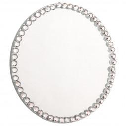 Photophore support à Bougies Plaque de Miroir avec contour Strass D 10 cm collection Sarah B.