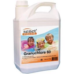 Chlore Choc Granulé 60 en pot de 3 kg