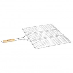 Grille de barbecue rectangulaire double