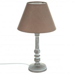 Lampe en bois taupe H36