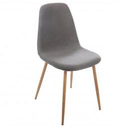 """Lot de 2 chaises grises """"Taho"""""""