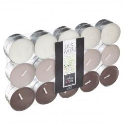 Lot de 30 Bougies chauffe-plat parfumée jasmin nina