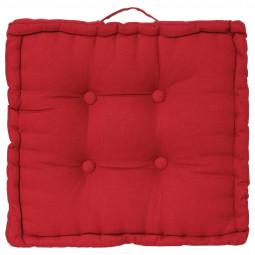 Coussin de sol rouge 40 x 40 cm