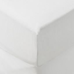 Drap housse blanc 140x190