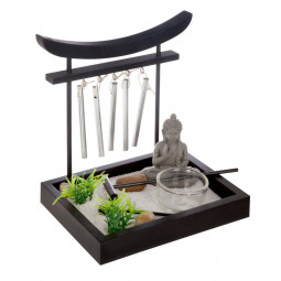 Jardin zen avec grelots  15X12 cm