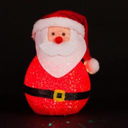 Sujet de Noël lumineux Père Noël LED à variation de couleur H 12 cm