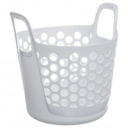Panier flexible blanc 37L