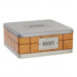 Boite à biscuits avec relief