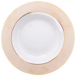 Assiette creuse alma Or D 22 cm