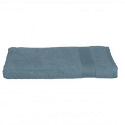 Drap de bain bleu orage 100x150 cm
