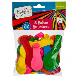 Lot de 50 Ballons Gonflables Multicolore